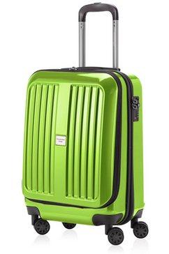hauptstadtkoffer harde koffer met 4 rollers, »trolley x-berg glans« groen