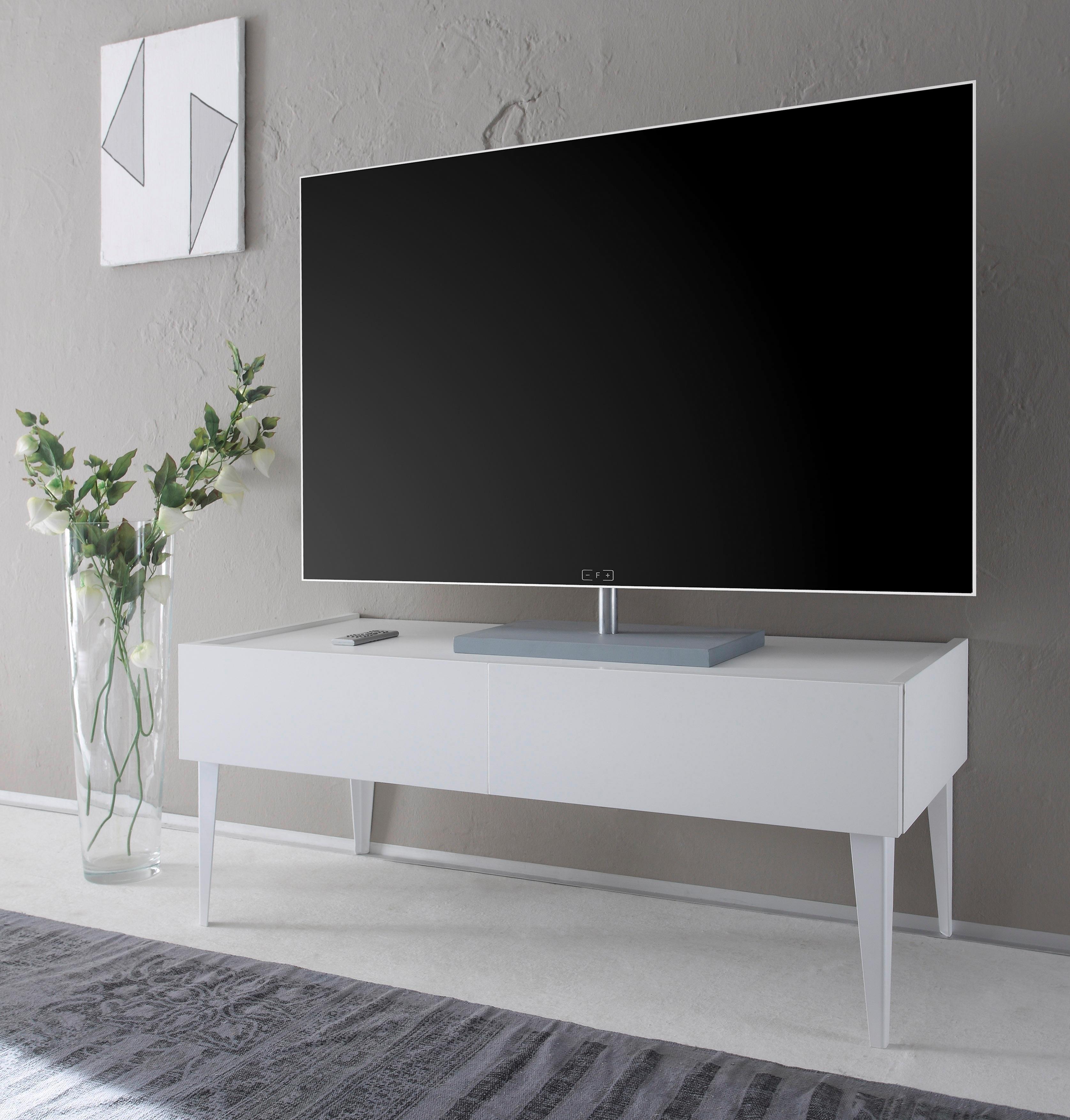 Places of Style tv-meubel Zela met 2 laden, met poten, breedte 123 cm in de webshop van OTTO kopen
