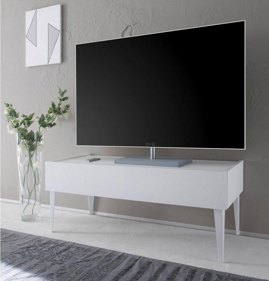 TV-meubel Zela met 2 laden, met poten, breedte 123 cm