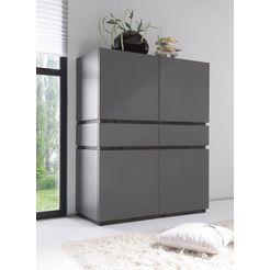 highboard »zela«, 4-deurs, breedte 123 cm grijs