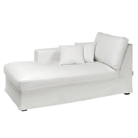 woonkamer chaise longues wit Chaise longue ecru