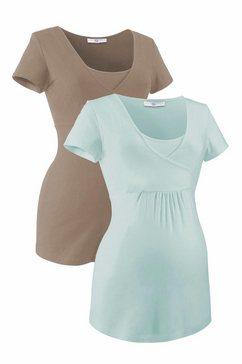 neun monate zwangerschapsshirt groen