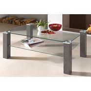 pro line salontafel met heldere glasplaat, rechthoekig beige