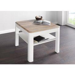 salontafel, vierkant wit