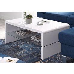 inosign salontafel met plateau van helder glas wit