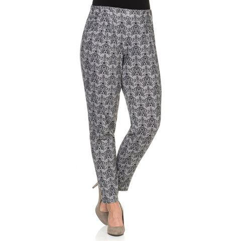NU 15% KORTING: SHEEGO STYLE jersey-stretchbroek met allover-print