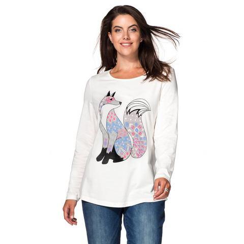 SHEEGO CASUAL shirt met lange mouwen en frontprint