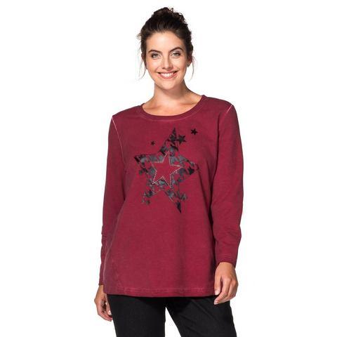 SHEEGO CASUAL sweatshirt in oil-washed-look