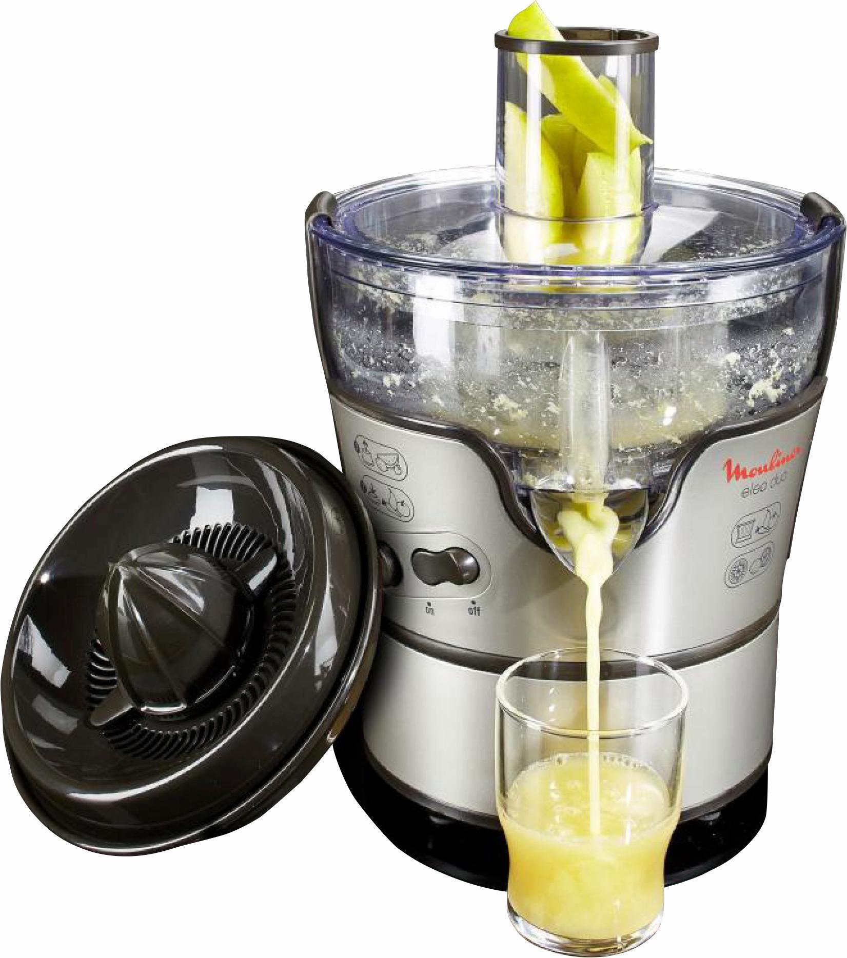 Moulinex vruchtenpers en citruspers Elea Duo JU385H, 300 W, zwart/edelstaal goedkoop op otto.nl kopen