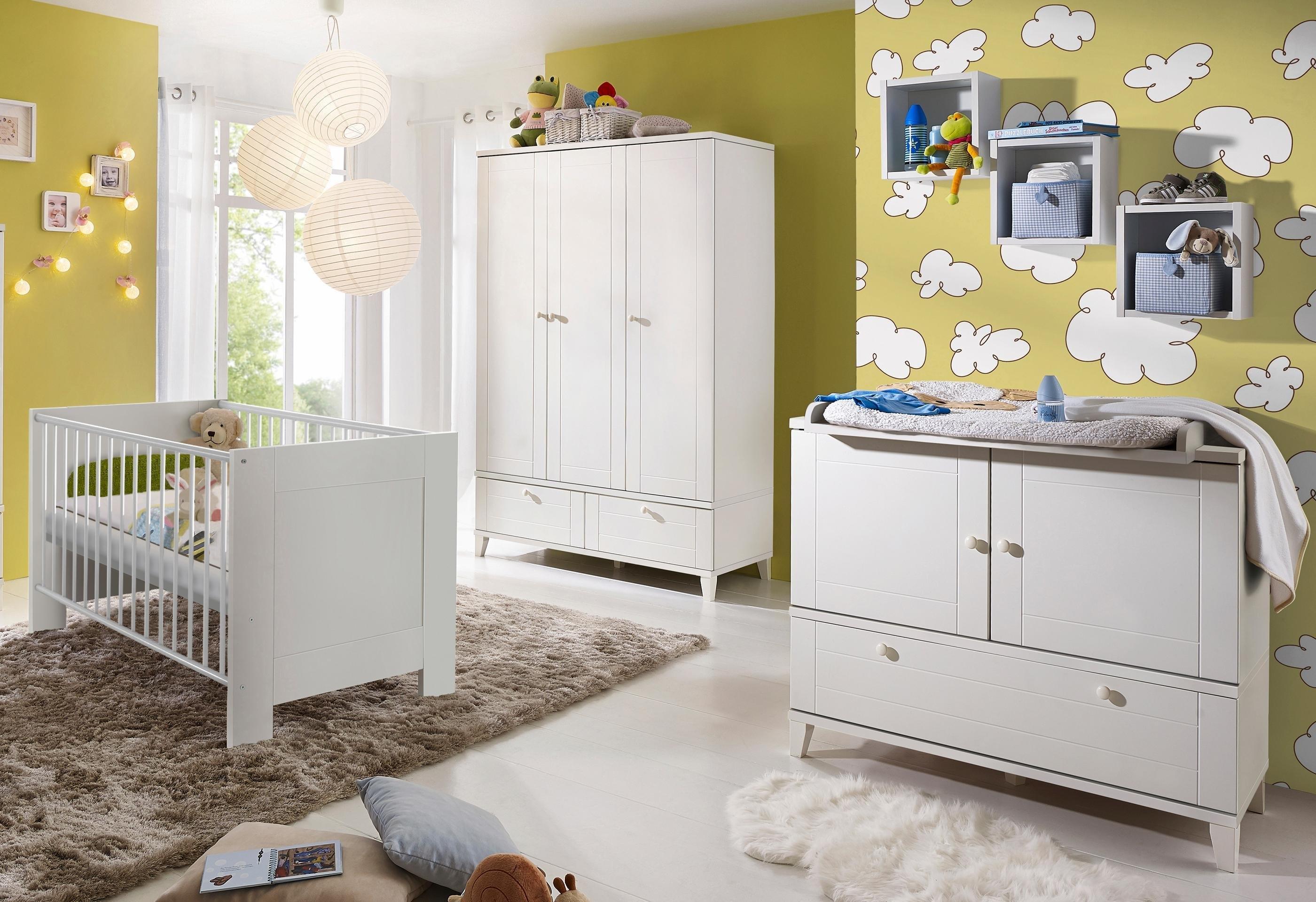 Hoogte Commode Babykamer : Complete babykamer »bella weiß« in landhuisstijl: ledikantje