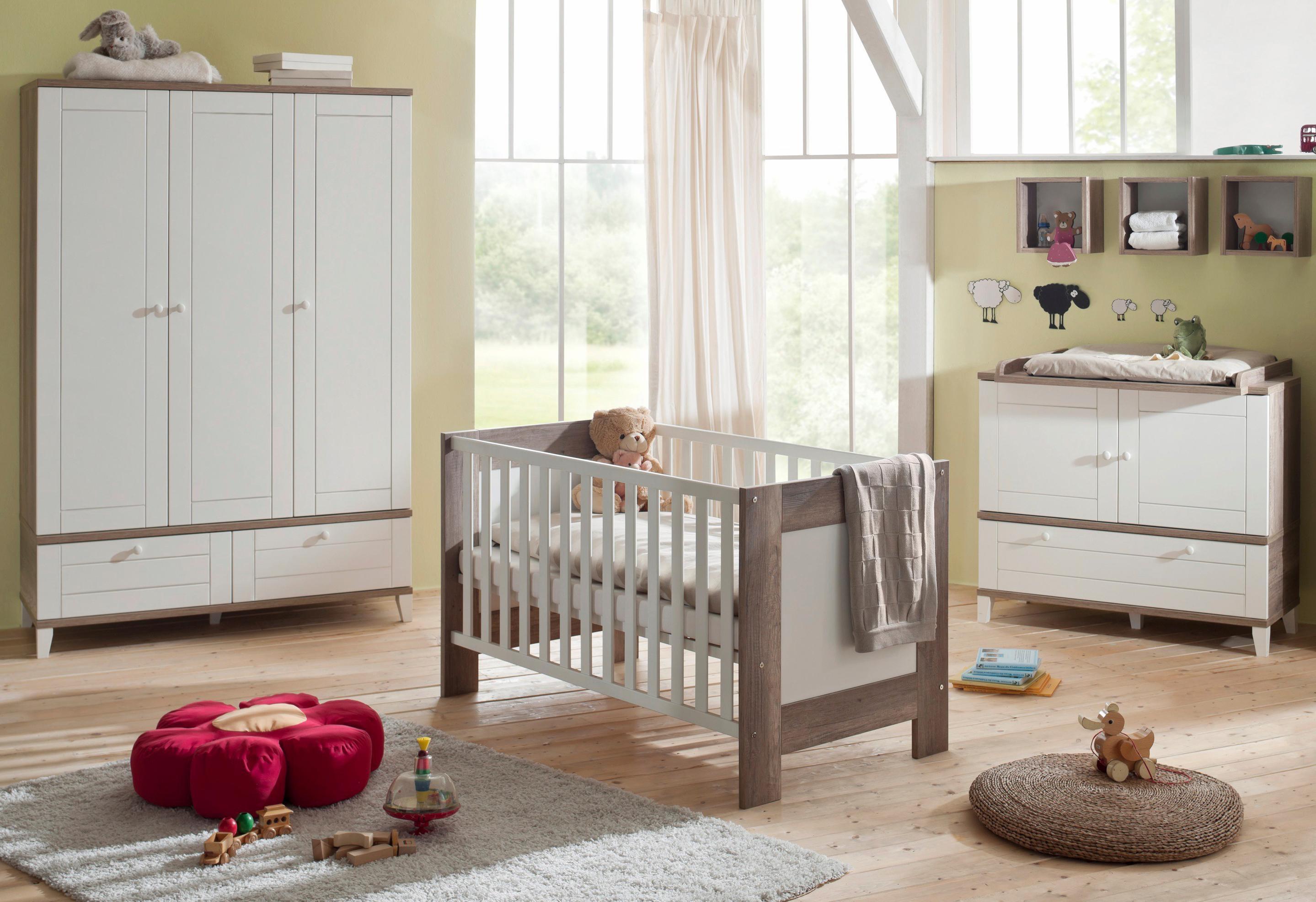 Hoogte Commode Babykamer : Kinderkamer »bella« in landhuisstijl: ledikantje commode