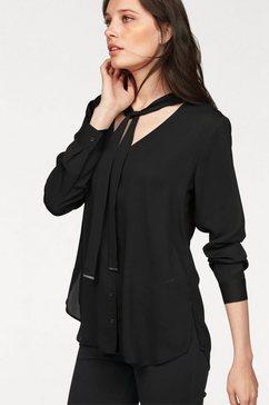 bruno banani blouse met kraagstrik zwart