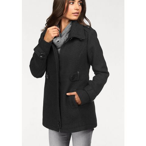 NU 15% KORTING: BOYSEN'S Coat in tweed-look
