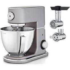 wmf keukenmachine profi plus met gratis vleesmolen + deegspuitmond t.w.v. ca. € 95,- grijs