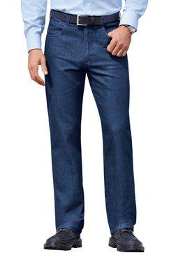 jeans met elastische comfortband blauw