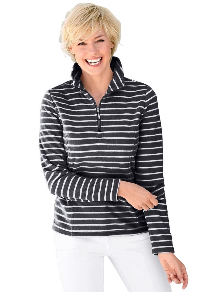 Casual Looks Fleece-shirt in modellerende prinsessenlijn bestellen: 14 dagen bedenktijd