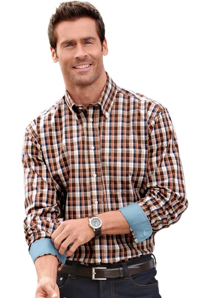 Met Button Bestellen downkraag Overhemd Online En Mouwen Lange edCorBx