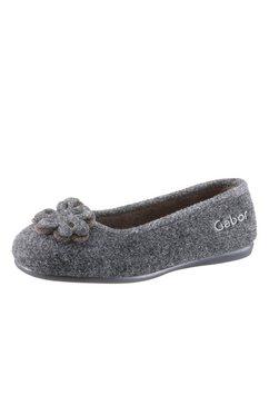 gabor pantoffels in ballerinamodel grijs