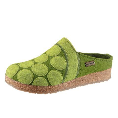 Schoen: HAFLINGER pantoffels in vlotte look
