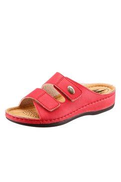 classic slippers met 2 klittenbandsluitingen rood