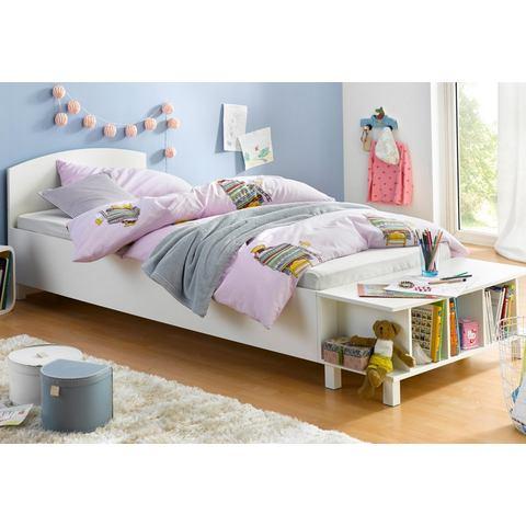 Bed met rek wit 741417