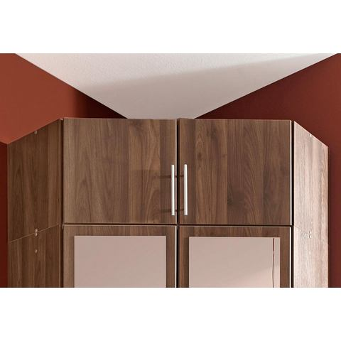 Opzetkast bruine systeem kledingkast Columbia notenboomkleur 16