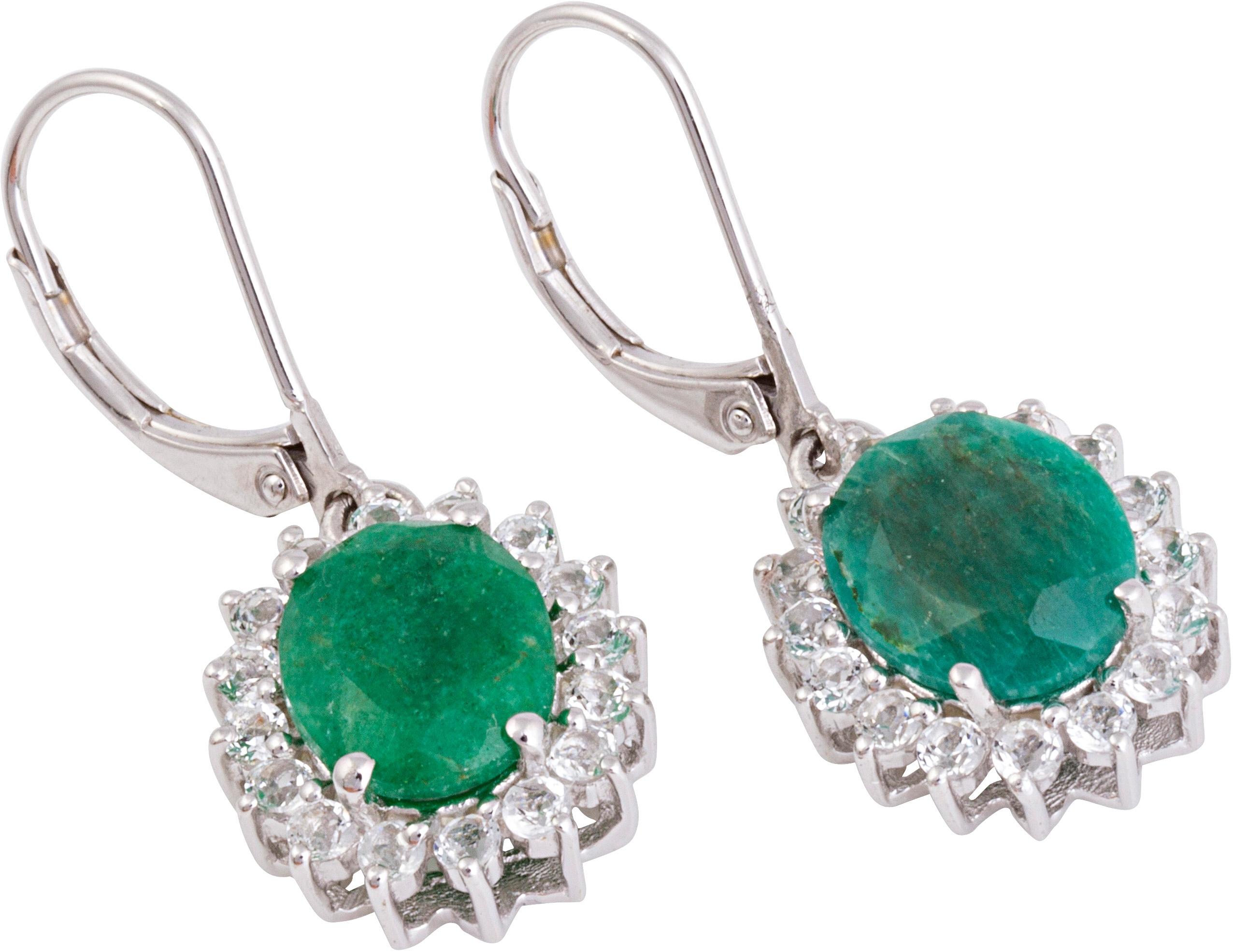 Firetti VIVANCE Jewels oorbellen: paar oorhangers 'Smaragd' met topazen nu online kopen bij OTTO