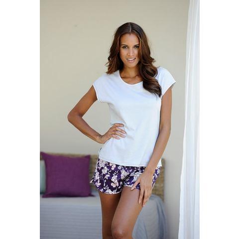 NU 15% KORTING: LASCANA losjes shirt met korte mouwen »Lou« voorzien van aangeknipte mouwen