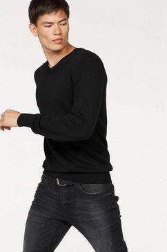 john devin trui met v-hals zwart
