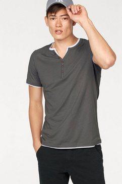 john devin shirt in layer-look en smal model grijs