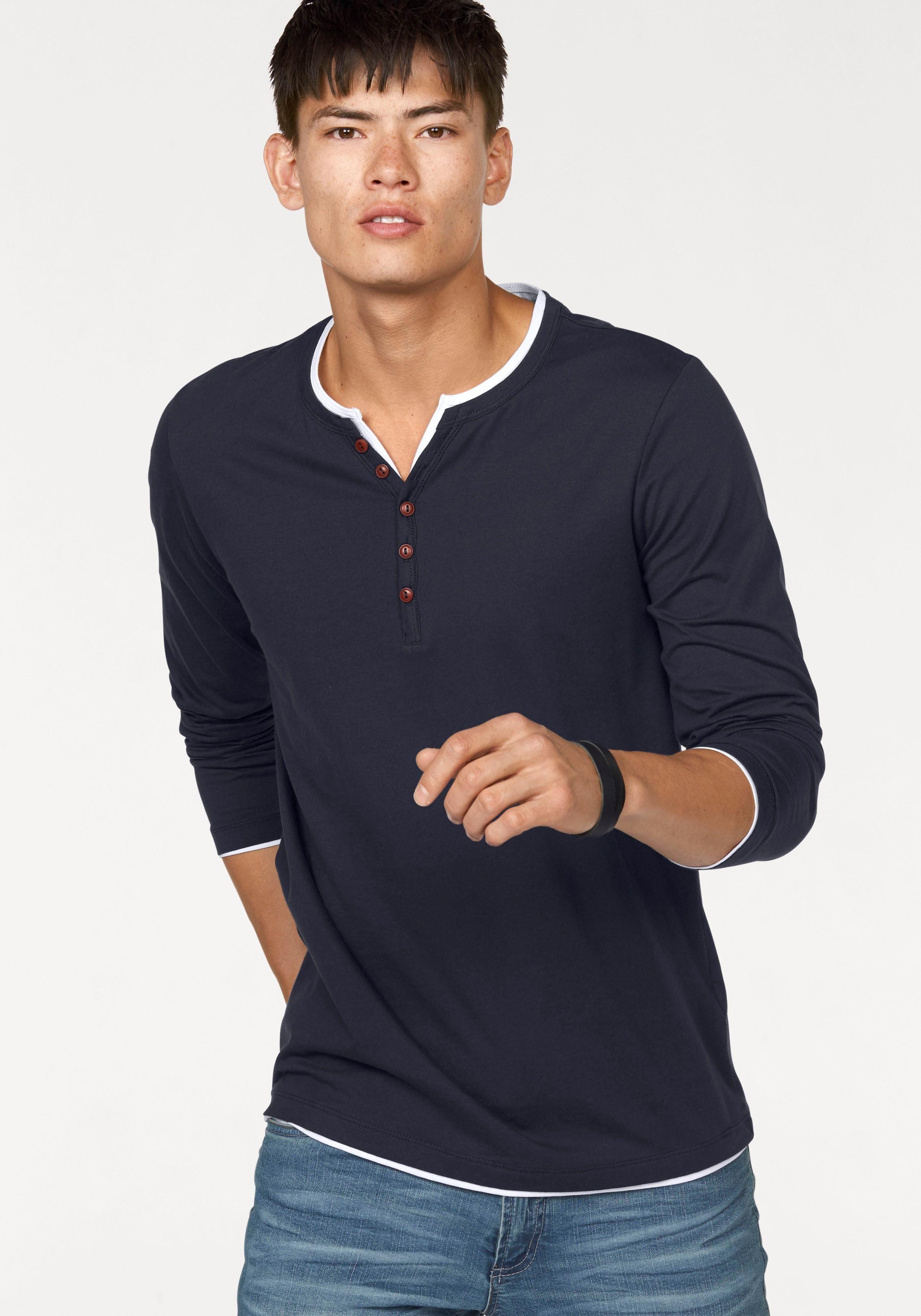 Shirts met lange mouwen of longsleeves voor heren koop je