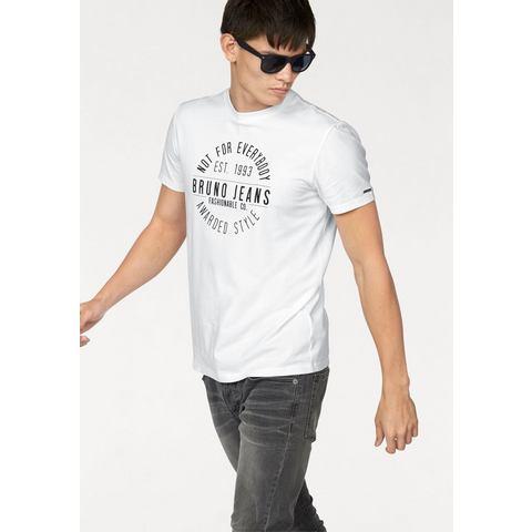 BRUNO BANANI T-shirt met logoprint