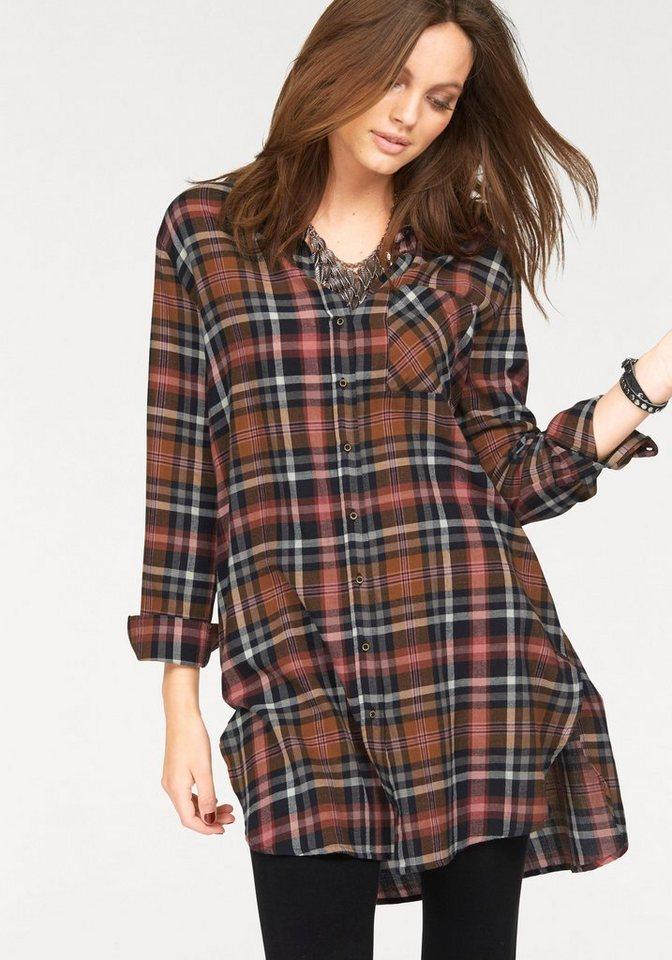 ONLY geruite jurk »CLAIRE« bruin