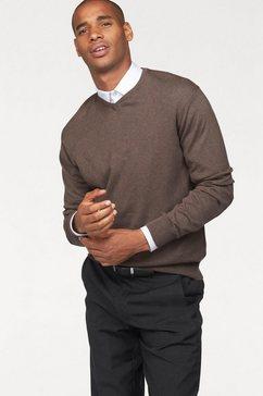 class international pullover met v-hals beige
