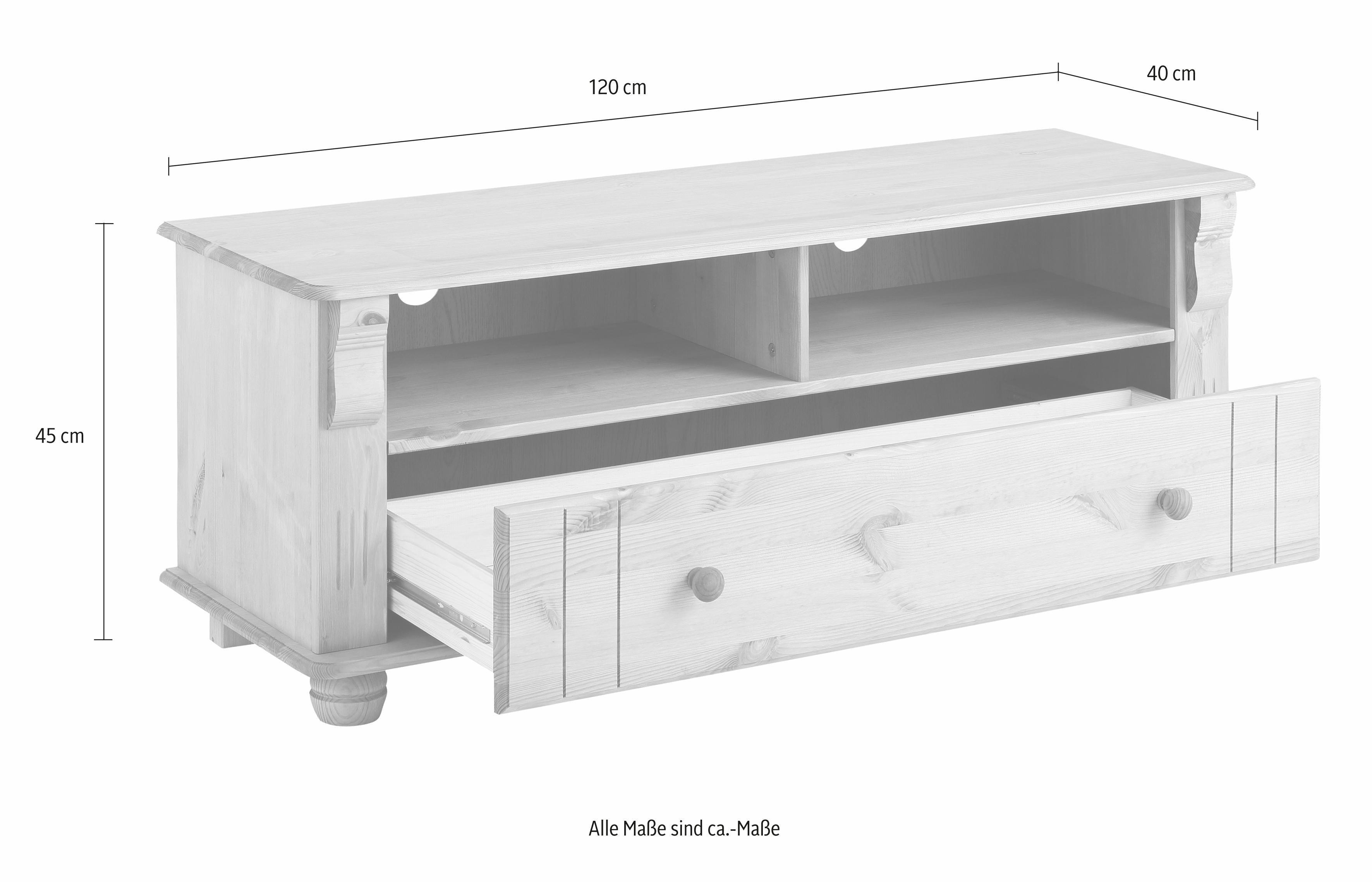 home affaire tv lowboard adele breedte 120 cm koop je bij otto. Black Bedroom Furniture Sets. Home Design Ideas