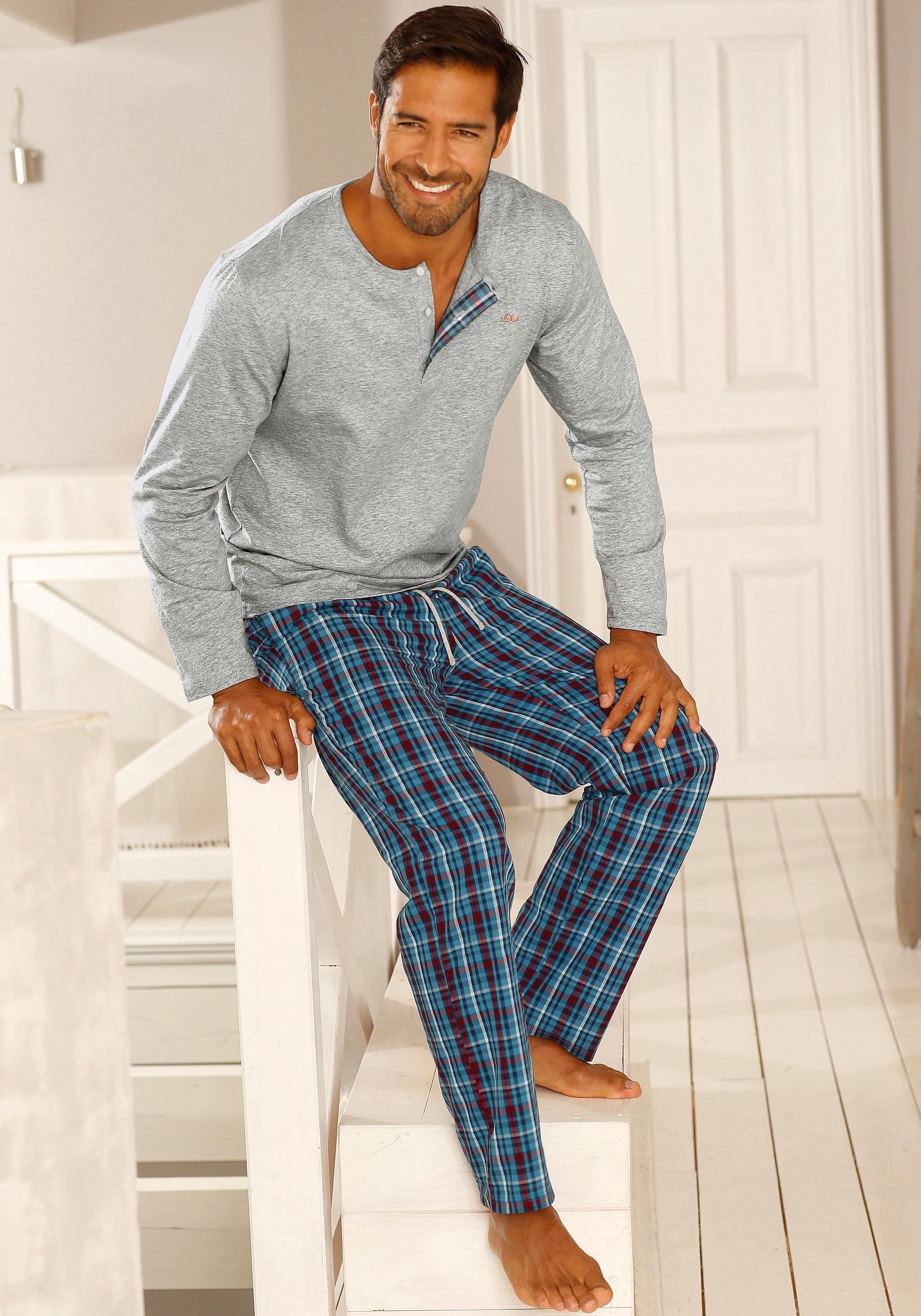 s.Oliver RED LABEL Lange pyjama, S.OLIVER online kopen op otto.nl
