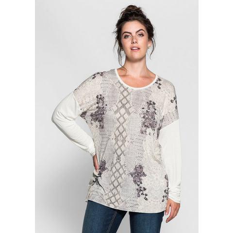 SHEEGO TREND shirt met lange mouwen en allover-frontprint