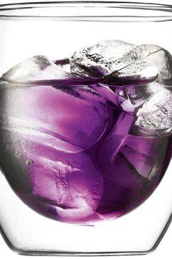 glas, set van 2, dubbelwandig, »PAVINA«