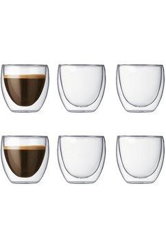 glas, set van 6, dubbelwandig, »PAVINA«