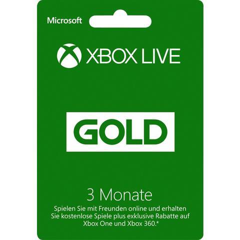 XBOXONE Xbox Live Gold 3 met 3 maanden lidmaatschap