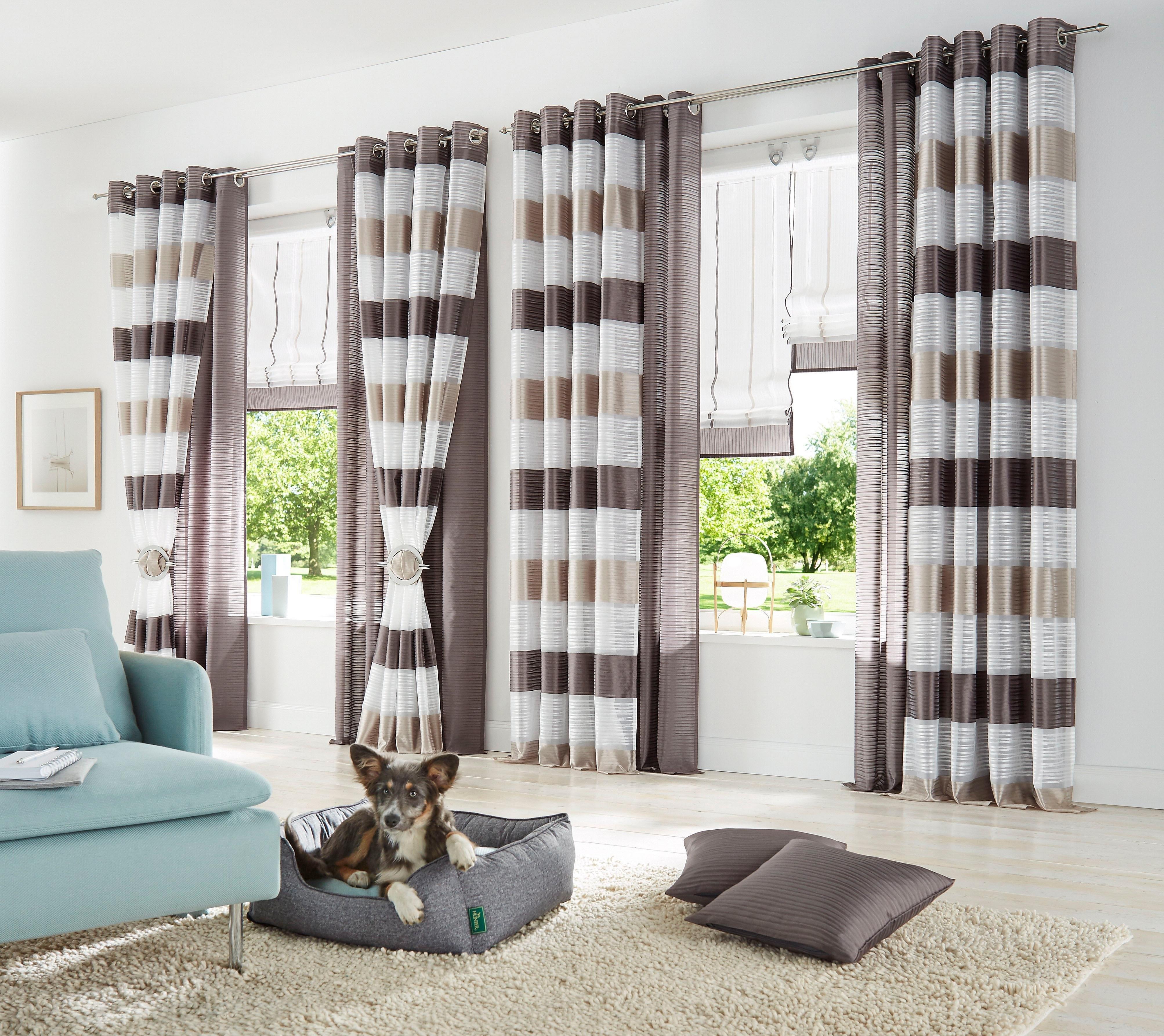 gordijn home wohnideen sarnias met zeilringen set. Black Bedroom Furniture Sets. Home Design Ideas