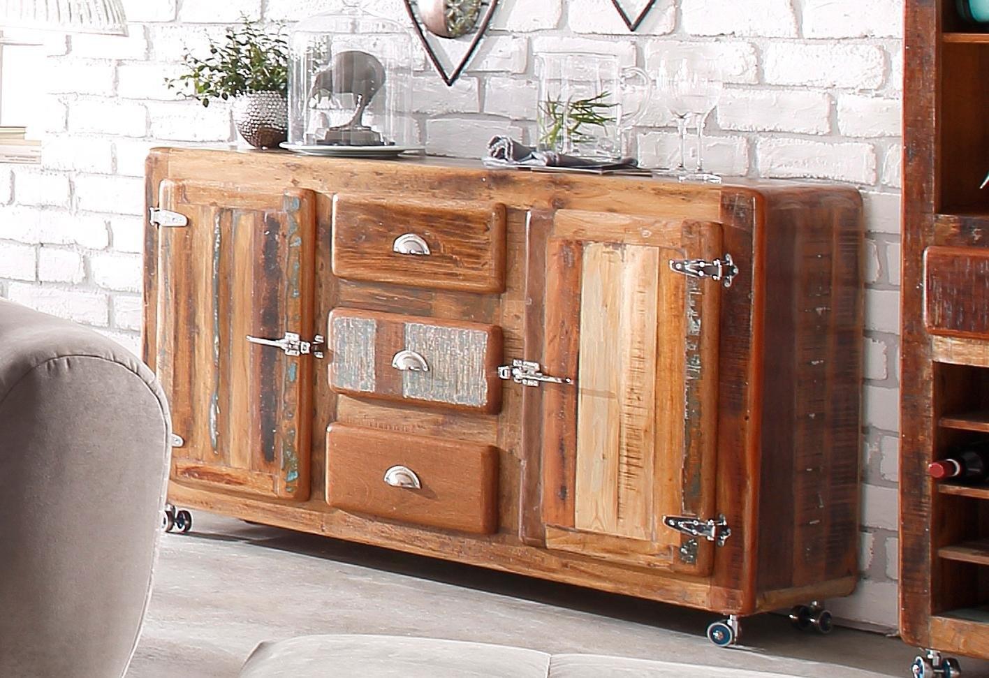 Sit dressoir »Fridge«, breedte 150 cm, met koelkastgrepen voordelig en veilig online kopen