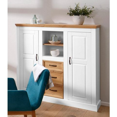 Dressoirs HOME AFFAIRE highboard Selma breedte 130 cm 702712