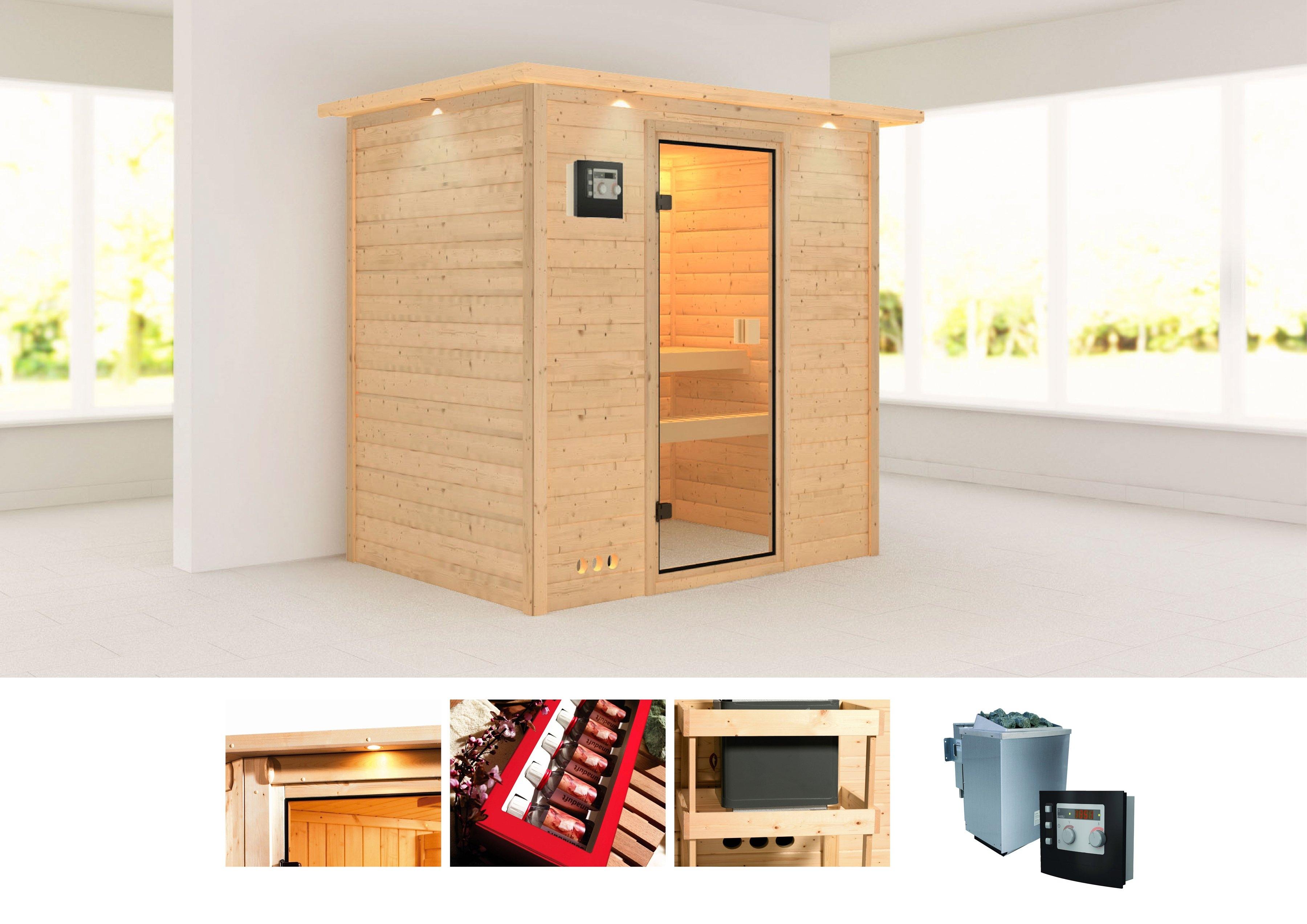 konifera massief houten sauna sonja online bestellen otto. Black Bedroom Furniture Sets. Home Design Ideas