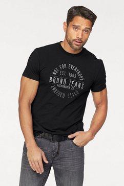 bruno banani t-shirt met merkprint zwart