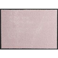 hanse home mat deco soft inloopmat, absorberend, wasbaar roze