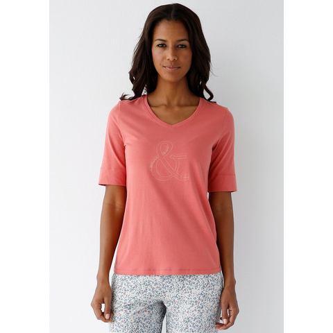 NU 20% KORTING: SCHIESSER T-shirt met V-hals en frontprint