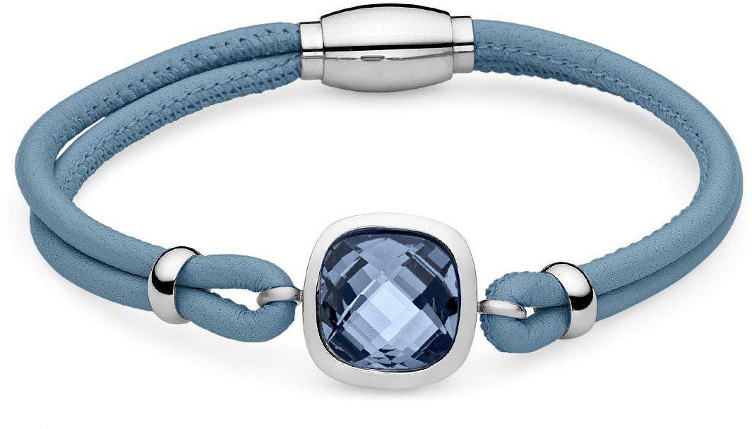 QUDO leren armband met glassteen »Estella 154001«