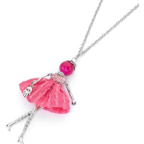 NU 15% KORTING: FIRETTI ketting met hanger voorzien van jade, »Pink lady«