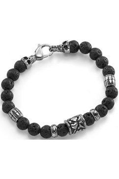 firetti armband met lavastenen zwart